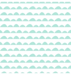 Scandinavian seamless mint pattern in hand drawn vector