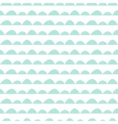 Scandinavian seamless mint pattern in hand drawn vector