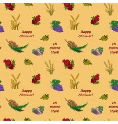 Seven species of the shavuot seamless pattern vector