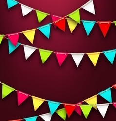 Party background with colorful bunting flags for vector