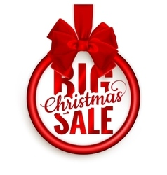 After Christmas Big Sale EPS 10 vector image vector image