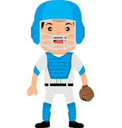 baseball player avatar character vector image vector image