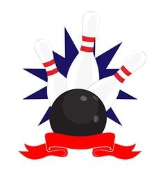 Bowling club logo vector image