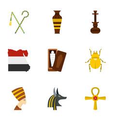Cairo travel icons set cartoon style vector