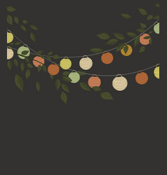 Colored lantern chain vector
