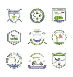 Golf emblems set vector