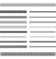 Graphic design elements - page divider line set vector