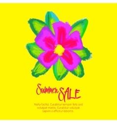 Great summer sale design template vector image