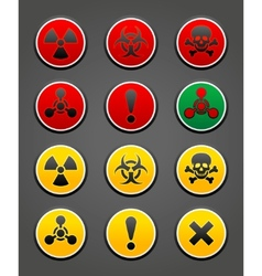hazard safety sign vector image vector image