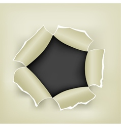 hole in paper vector image