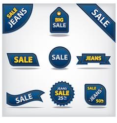 jeans sale labels vector image vector image