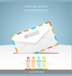 letter on a white background vector image vector image