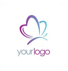 love butterfly beauty logo vector image