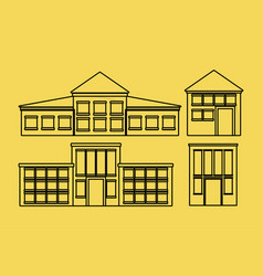 modern houses icon vector image vector image