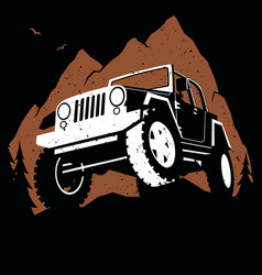 off-road mountain vector image vector image