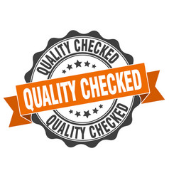 Quality checked stamp sign seal vector