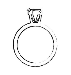 Ring jewelry luxury wedding sketch vector