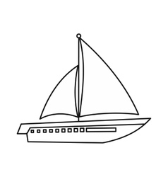 Sailing yacht icon outline style vector image vector image
