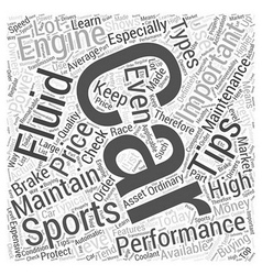 Sc sports car engine mainten word cloud concept vector