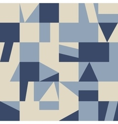 Seamless abstract paper geometric pattern vector image vector image