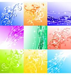 season background set vector image vector image