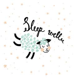 Sleeping sheep vector