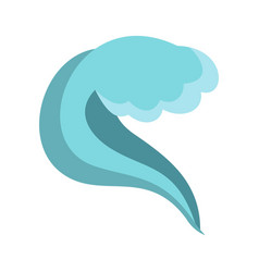 splashing wave icon cartoon style vector image vector image