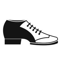 Tango shoe icon simple style vector
