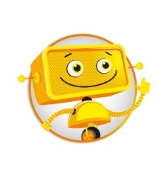 Funny yellow robot vector