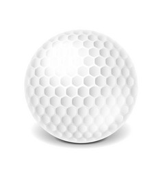 golf ball isolated on white vector image