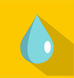 drop icon flat style vector image