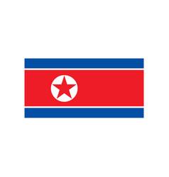 North korea flag vector