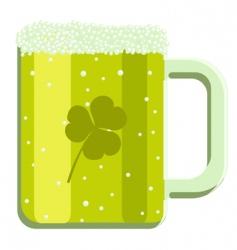 cartoon green beer vector image