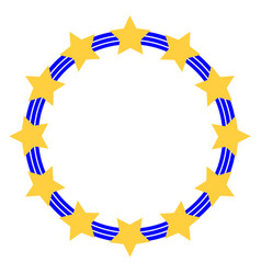 Symbol of the european union stars in three vector