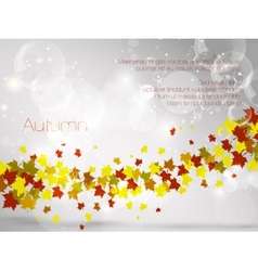 Autumnal leaf background vector