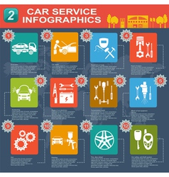 Car service infographics 9 1 vector