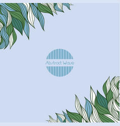 Background with abstract waves vector