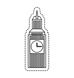 big ben isolated icon vector image
