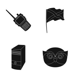 Birds technology and or web icon in black style vector