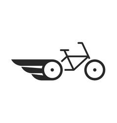 Black abstract bike with wings vector