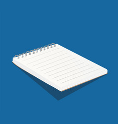 blank white copybook template 3d of vector image vector image