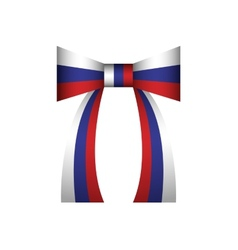 Bow russian flag vector