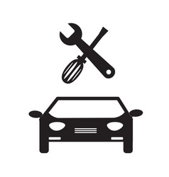 Car service icon on white background car service vector