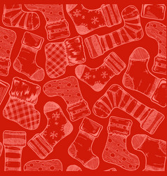 christmas stockings pattern vector image