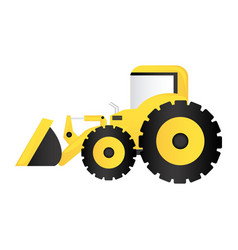 Color backhoe loader icon vector