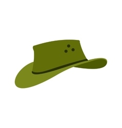 Cowboy hat icon flat style vector
