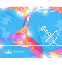Creative satellite dish art vector