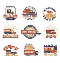 Delivery Logo Emblem Set vector image vector image