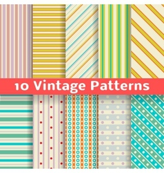 Different vintage stripe seamless patterns tiling vector image vector image