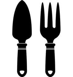 Garden tools silhouette vector image vector image